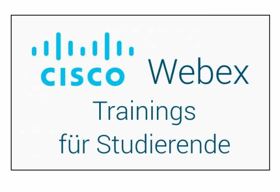 Webex Trainings für Studierende